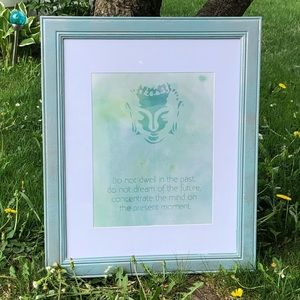 🖼 Buddha Quote Frame / Teal🧘🏻‍♀️